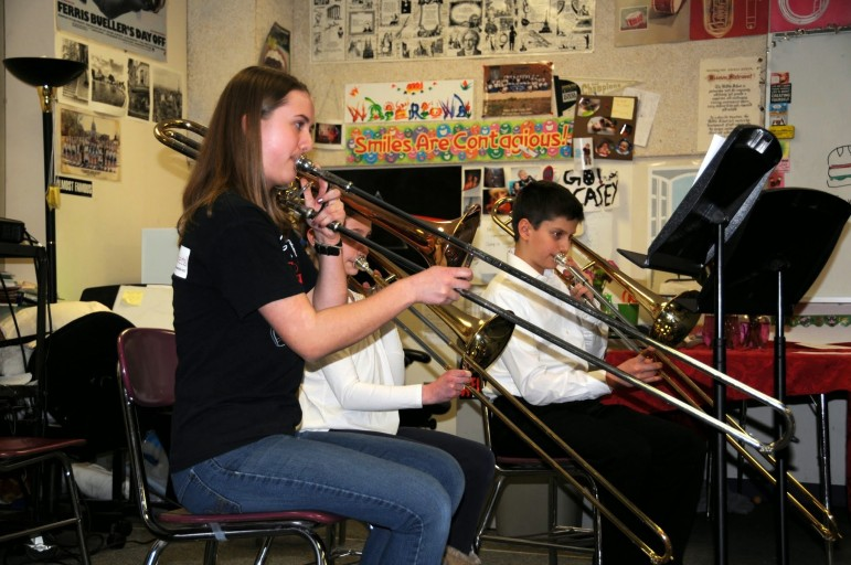 Students play at the fourth annual Watertown MusicFest.