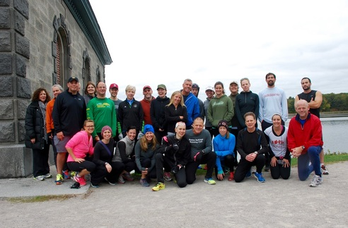 The Boston Bulldogs Running Club meets at the Chestnut Hill Reservoir twice a week. The group formed to help addicts in recovery.